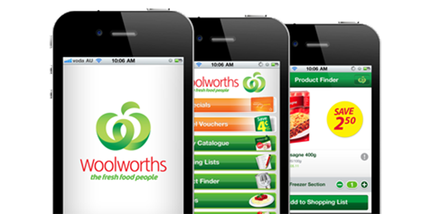 Woolwoths application mobile click and collect