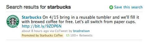 Tweet Starbucks